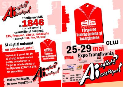 Targ de imbracaminte si incaltaminte Expo Texstil la Expo Transilvania, in perioada 25-29 mai
