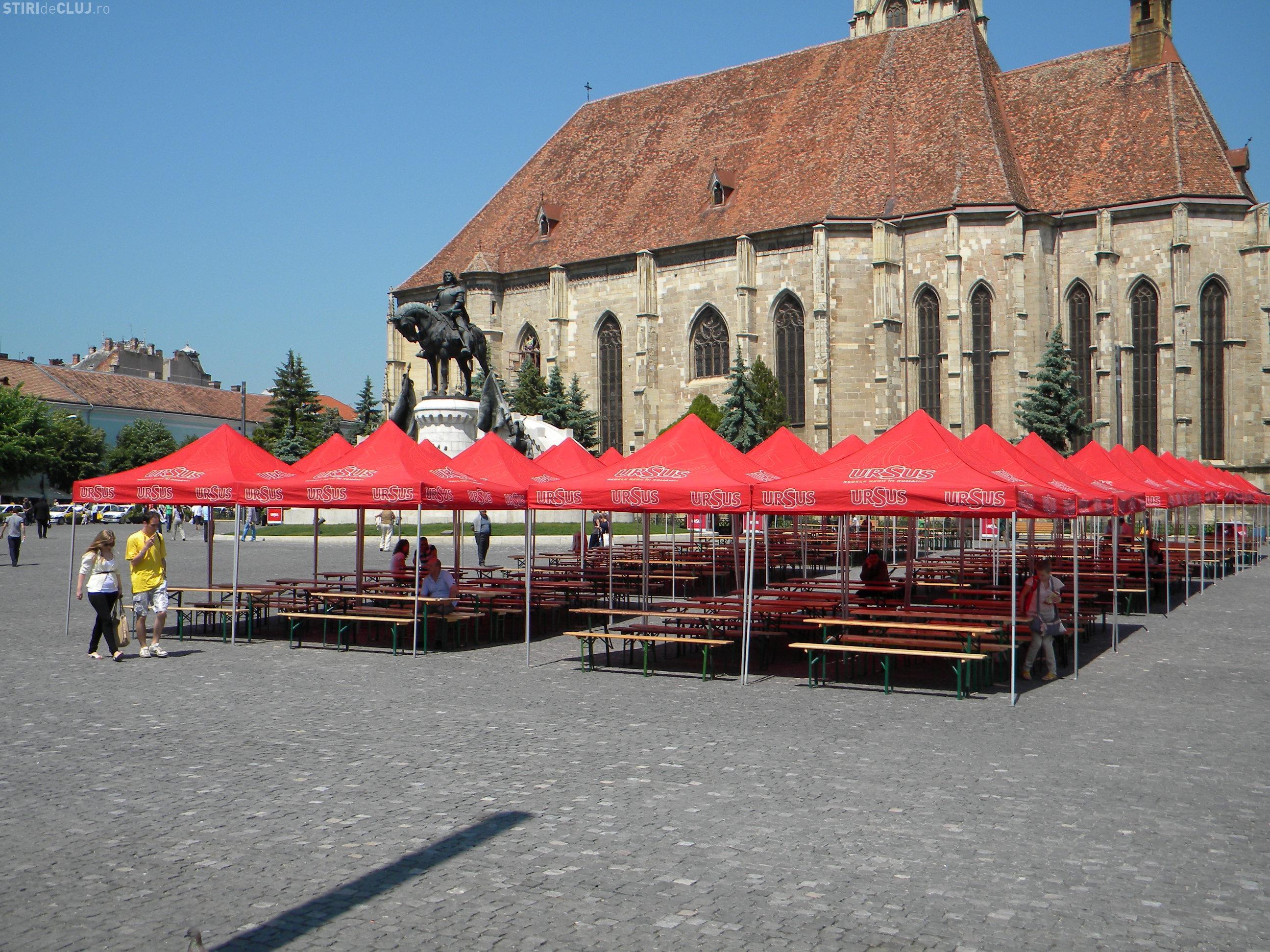Piata Unirii din Cluj Napoca, pregatita pentru Zilele Clujului! - VEZI programul zilei de vineri FOTO