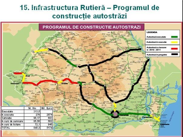 Vezi harta autostrazilor care vor fi finalizate pana in 2013 FOTO