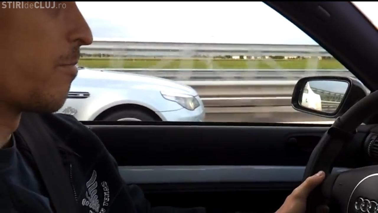 """Liniuta"" pe autostrada Transilvania intre un BMW si un Audi VIDEO"