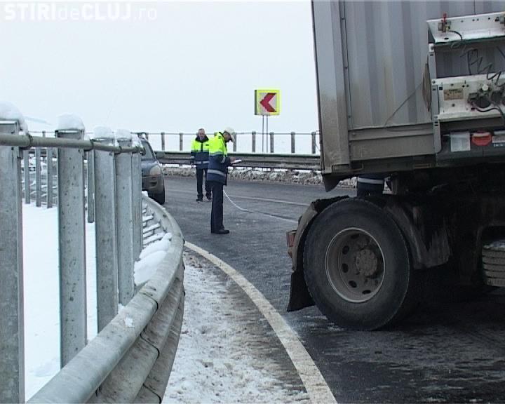 Accident pe Autostrada Transilvania, la intrare dinspre Gilau