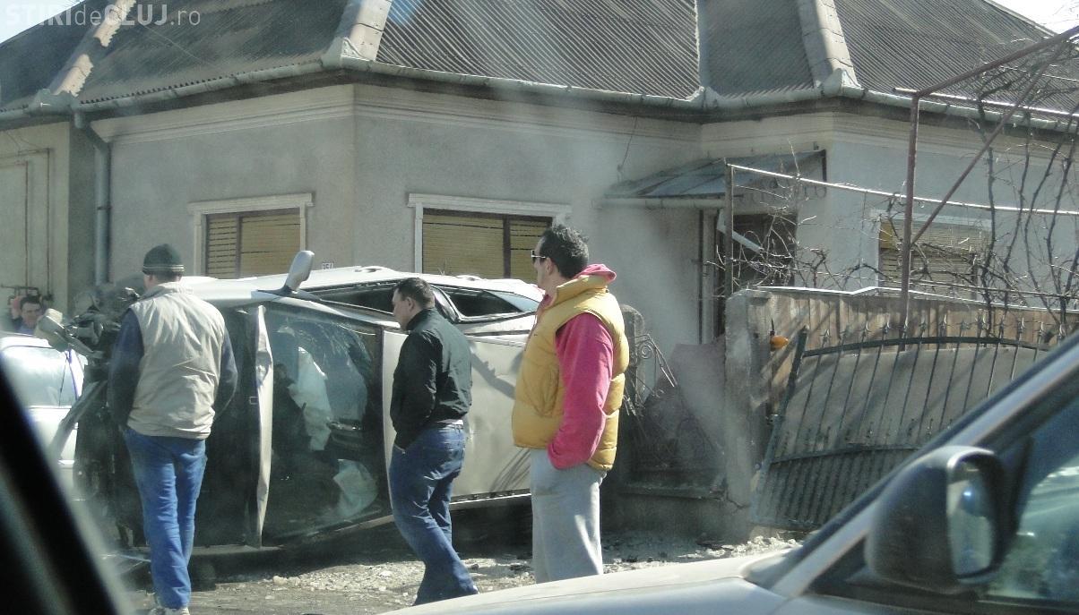 Accidentul din Floresti, de langa Oncos, produs de un barbat fara permis FOTO