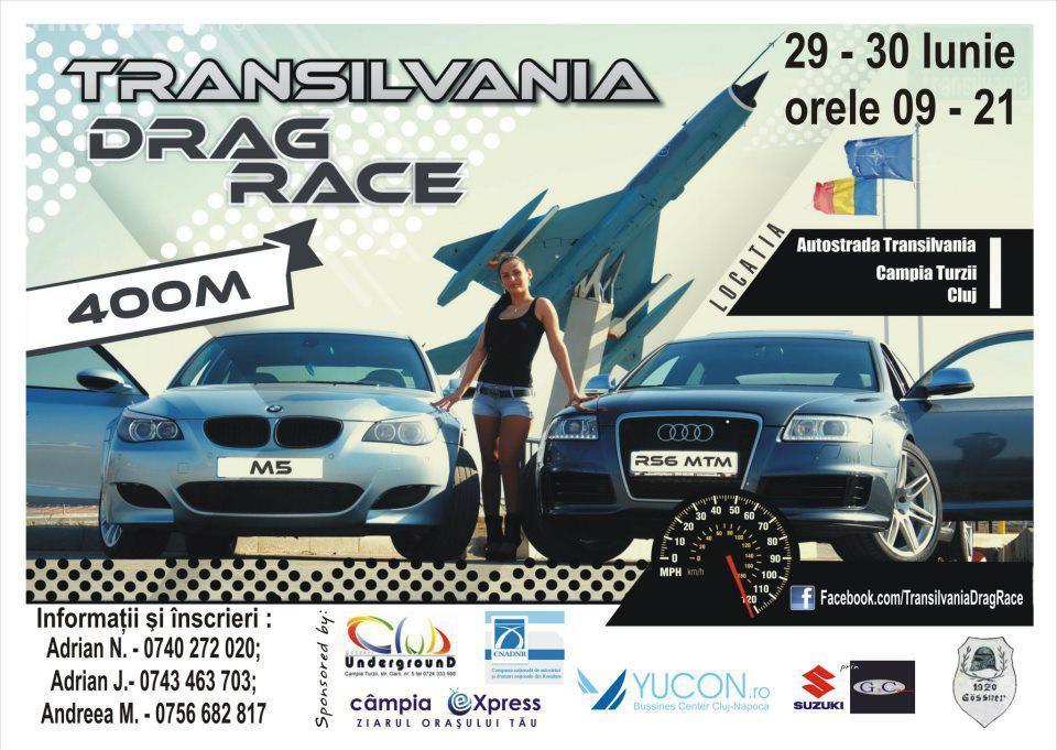 Cursele de mașini de pe Autostrada Transilvania vor avea loc pe o porțiune închisă traficului