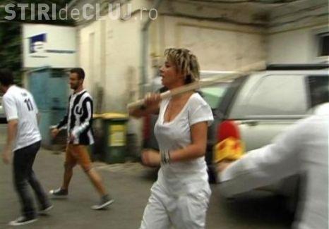 Anamaria Prodan, la un pas să fie bătută de suporterii U Cluj - FOTO