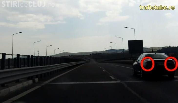 VIDEO cu traficul haotic de pe Autostrada Transilvania. Șoferii parcă au uitat să conducă