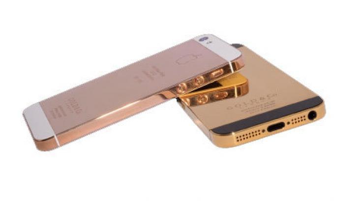 iPhone 5 din aur de 24k. Cât costă și cum arată