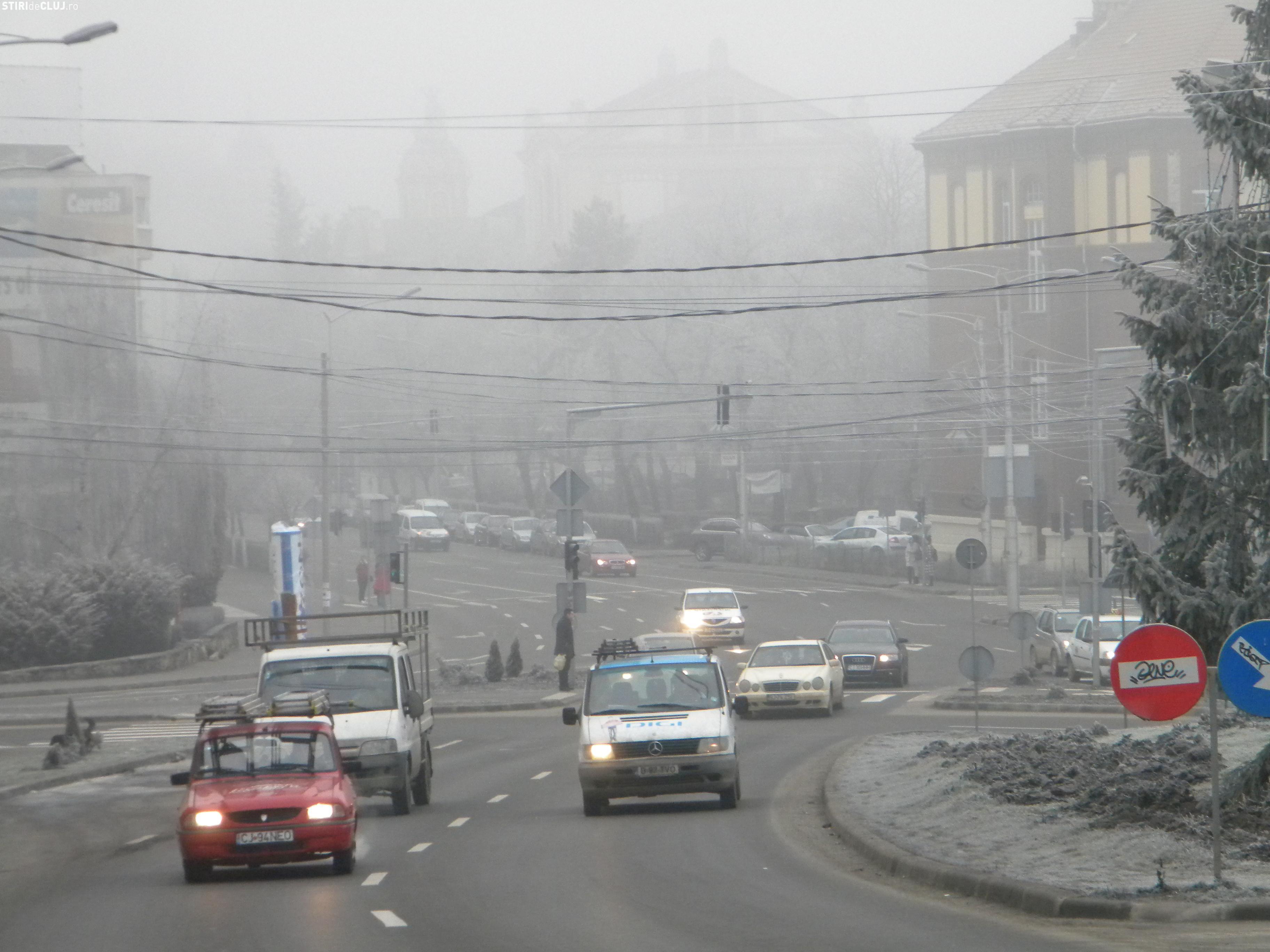 Ceața pe Autostrada Transilvania și în tot județul Cluj. VEZI cât va dura fenomenul