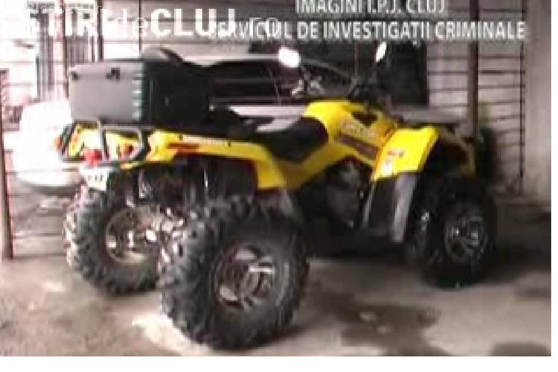 VIDEO - Hoti de ATV -uri prinsi la Dej. Doi tineri din Floresti au furat 6 vehicule din Cluj, Sibiu si Alba