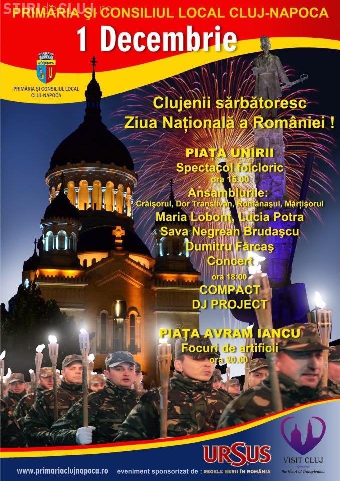 1 Decembrie: Concerte și focuri de artificii la Cluj-Napoca