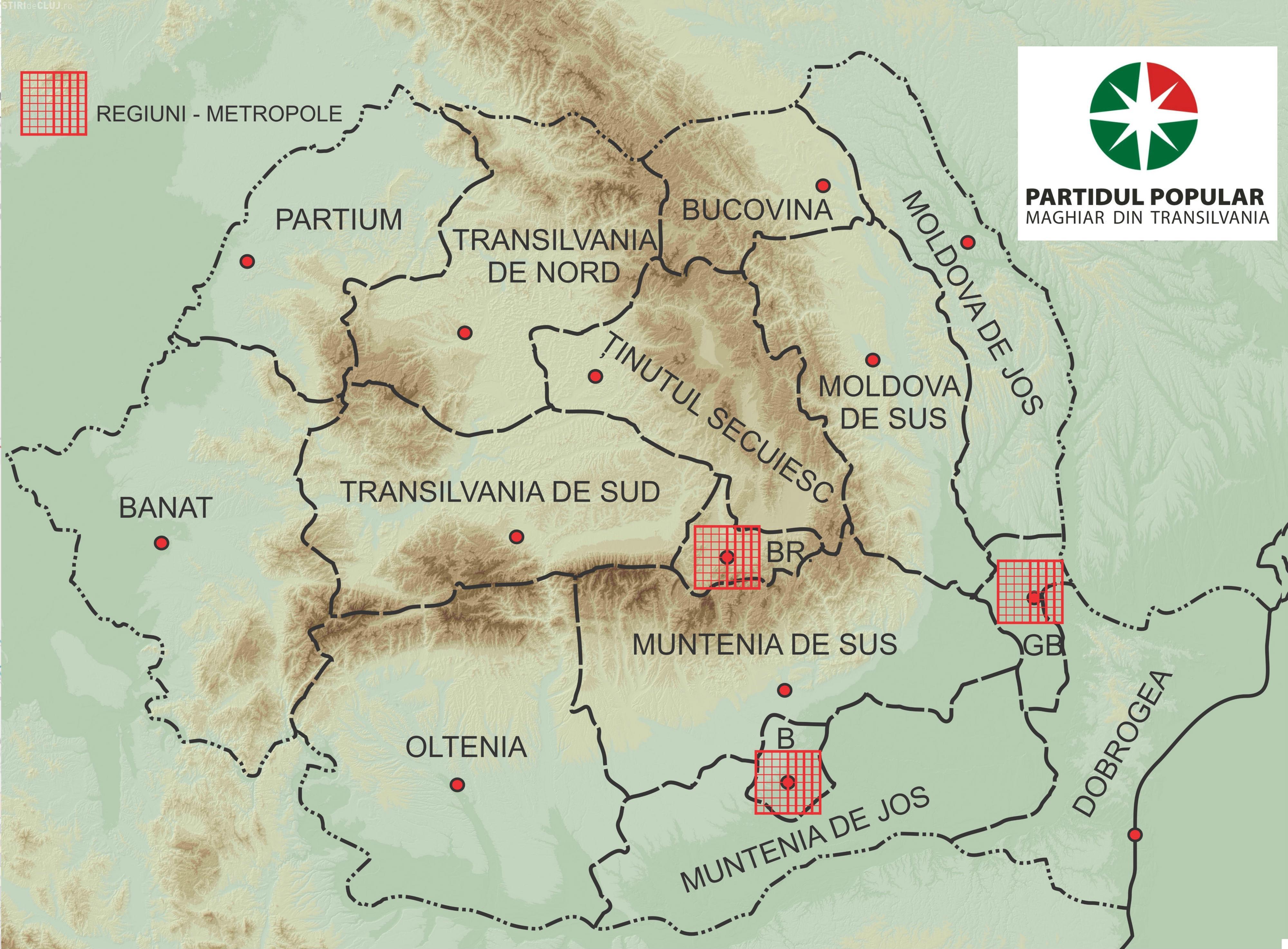 Harta Regionalizării Romaniei Conform Ppmt ținutul Secuiesc E