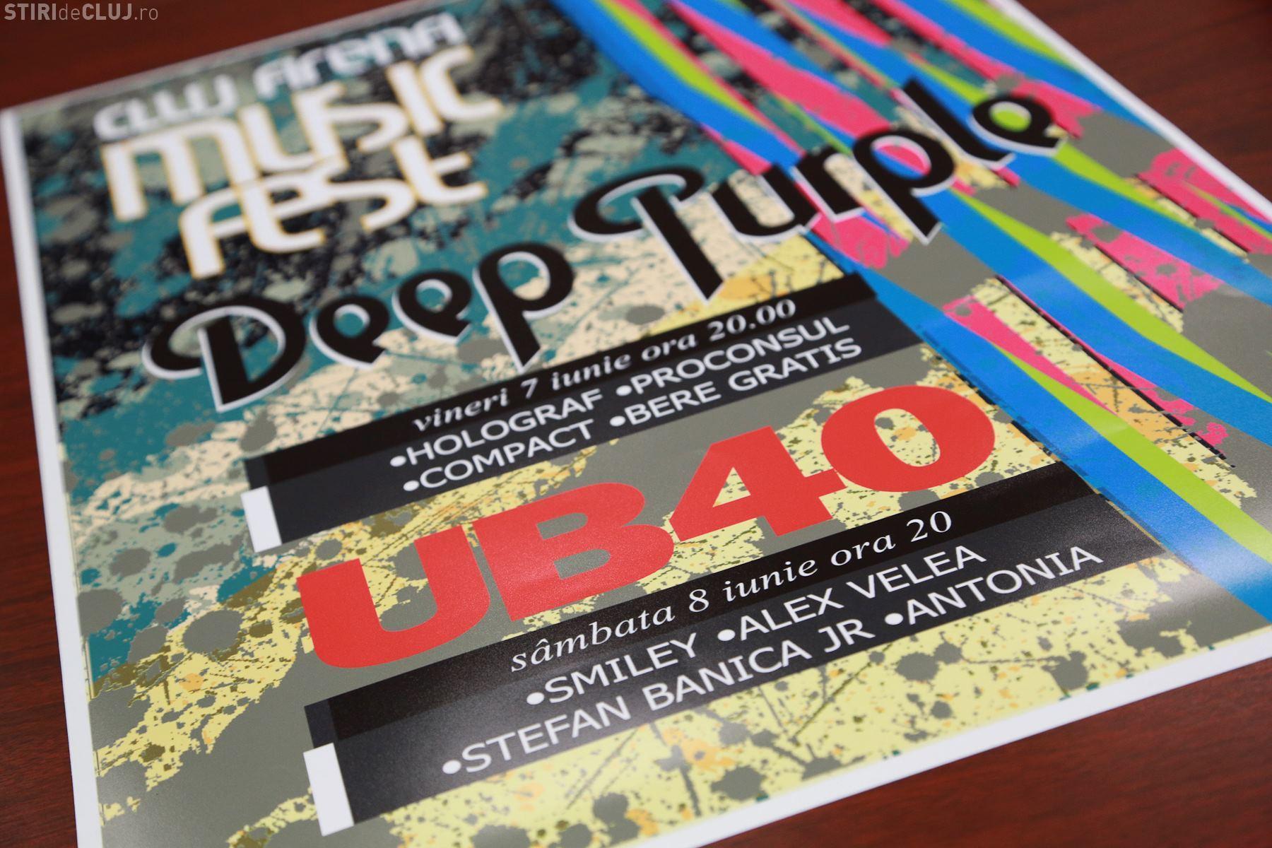 Afișul concertelor Deep Purple și UB 40, din iunie - FOTO