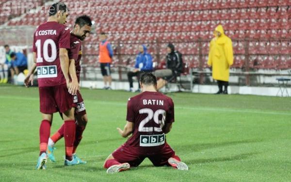 CFR Cluj a învins pe Gaz Metan Mediaș cu scorul de 2-1
