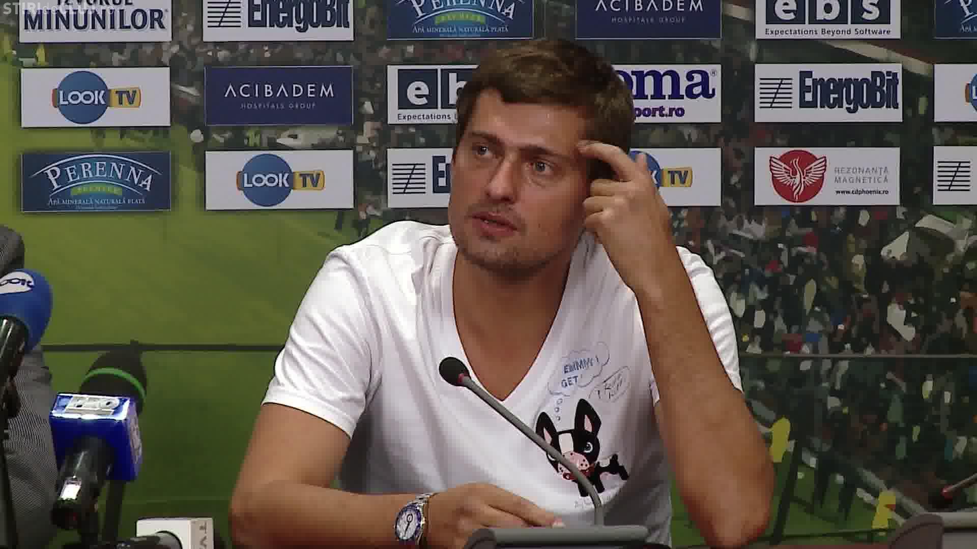 Gabi Tamaș agitat și transpirat la conferința de prezentare la CFR Cluj. Ce întrebări l-au enervat? - VIDEO