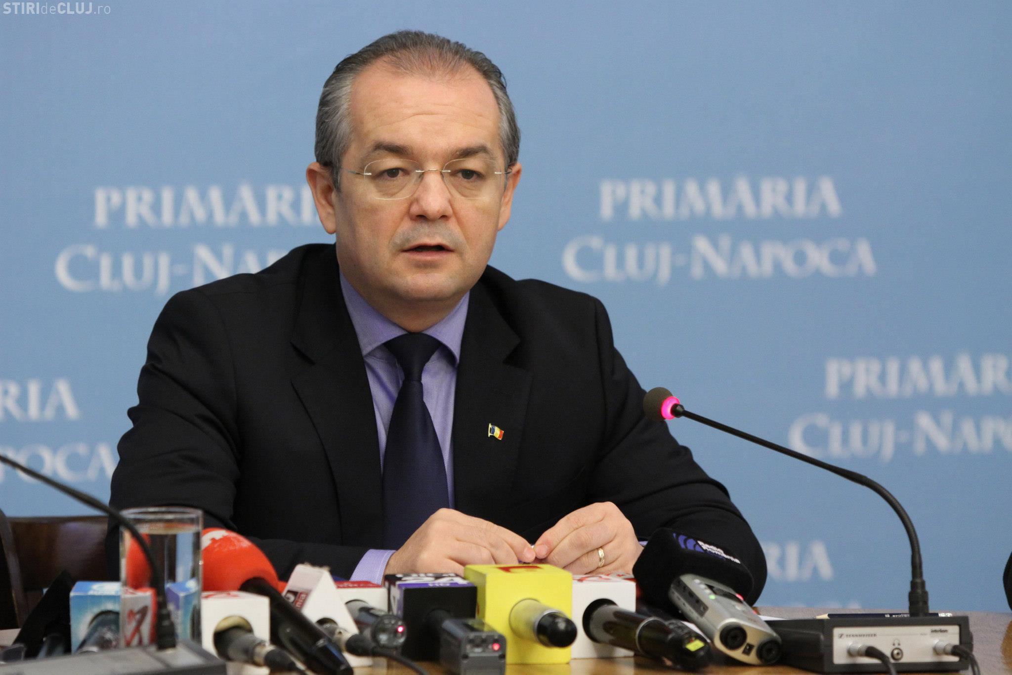"""PSD Cluj acuză că """"nostalgiile de premier ale dlui. Emil Boc blochează administrația Clujului"""""""