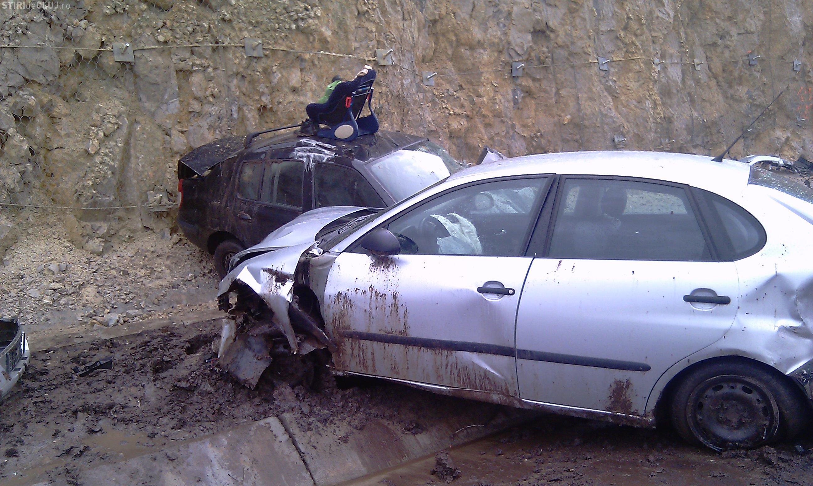 Accident pe Autostrada Transilvania! Un șofer a pierdut controlul asupra mașinii pe breteaua autostrăzii