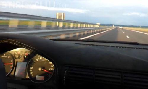 Nou RECORD de viteză pe Autostrada Transilvania
