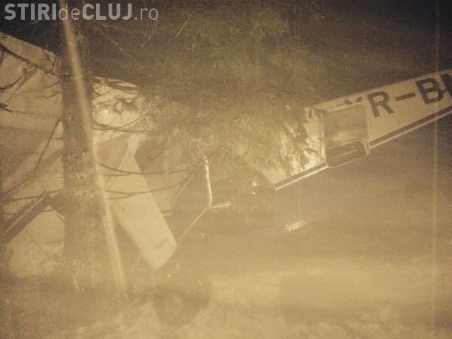 Avion prăbușit la Cluj. Avionul medical prăbușit în zona Poiana Horea a fost GĂSIT! FOTO