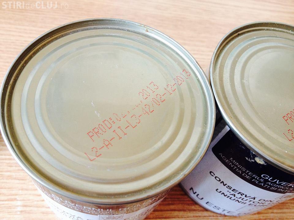 O clujeancă susține că a primit ajutoare alimentare UE EXPIRATE- FOTO