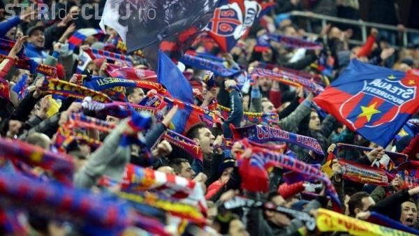 Steliștii - scandările rușinii la meciul cu CFR Cluj. Așa ceva nu este ADMIS în Europa civilizată