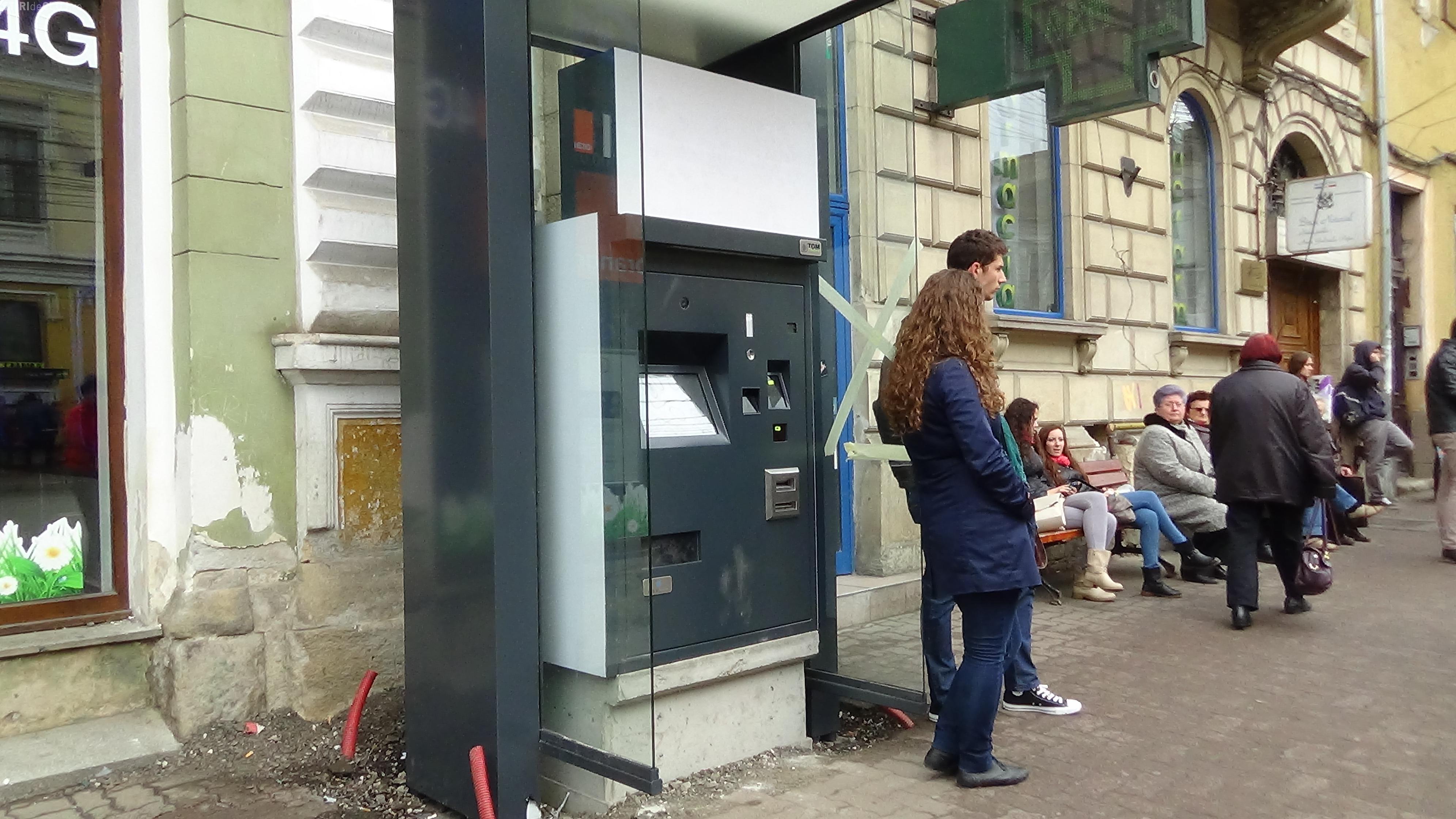 Cum arată primul automat de bilete din Cluj-Napoca! Sistemul de ticketing va funcționa din vară - FOTO