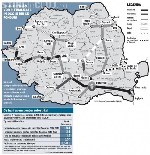 Harta Autostrăzilor Din Romania Pană In 2020 Ajungem La 2 440 Km