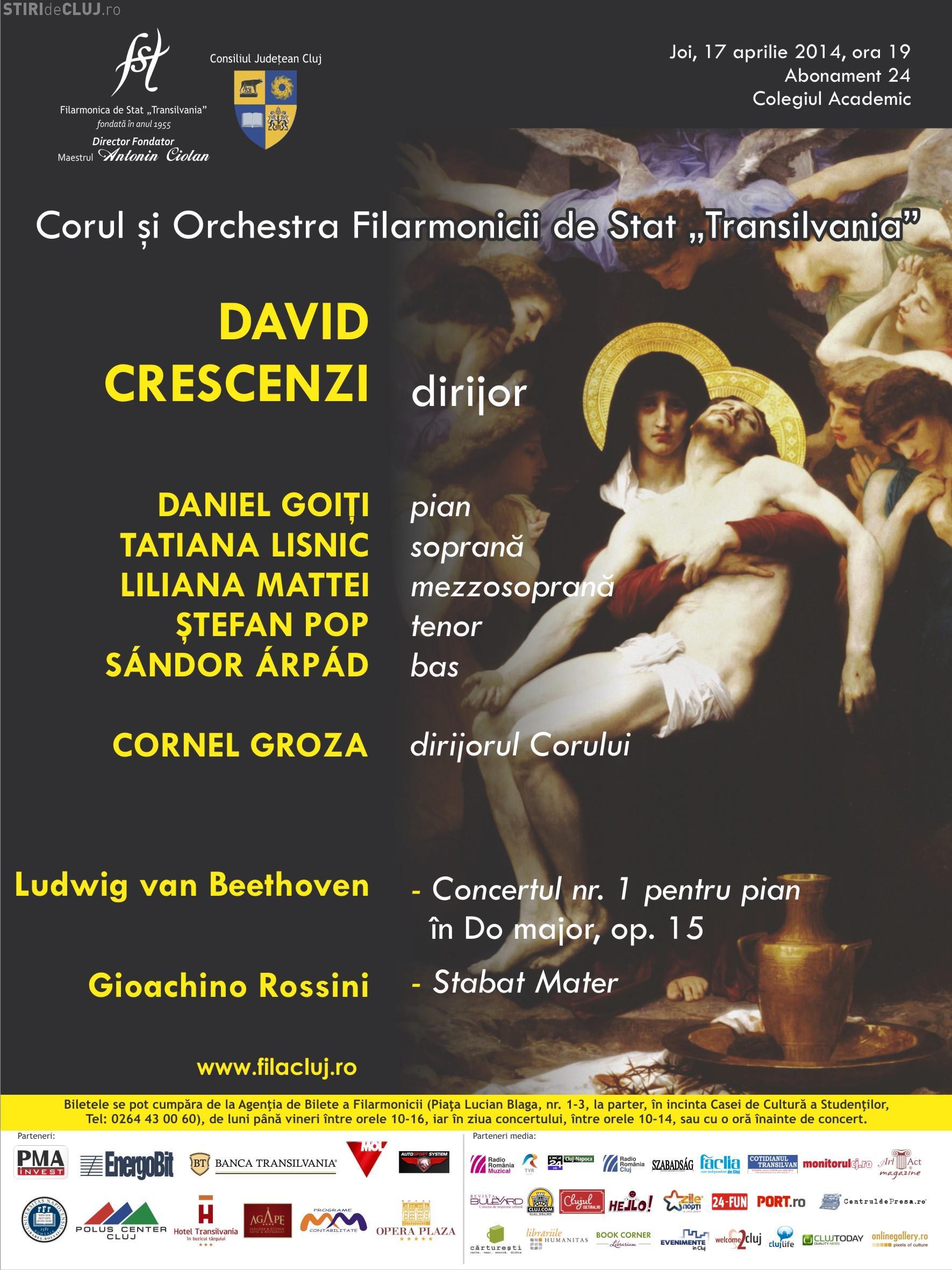 """Concert de Paști al Filarmonicii de Stat """"Transilvania"""""""