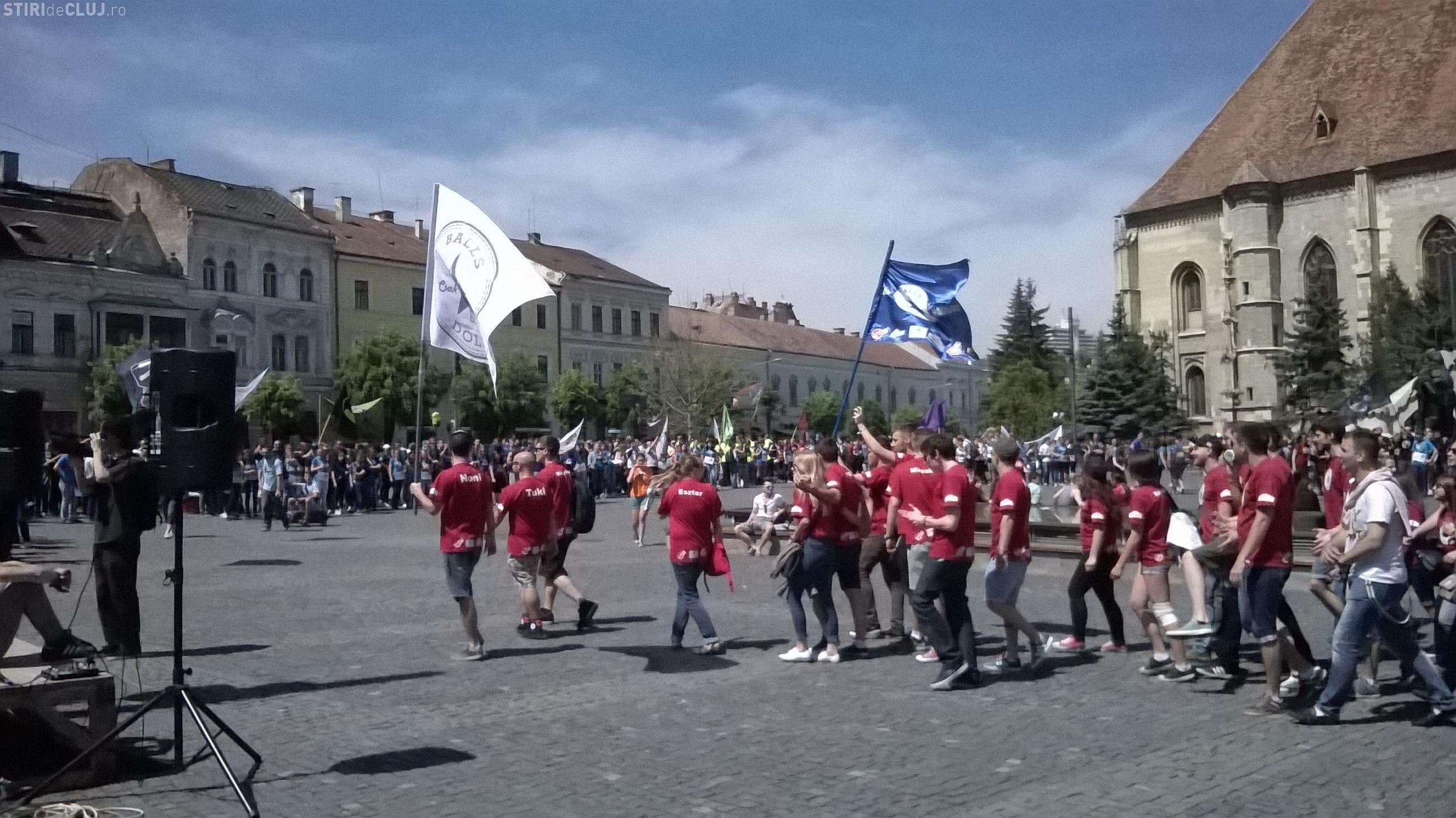 Zilele Studenților Maghiari! Tinerii maghiari au umplut centrul Clujului VIDEO