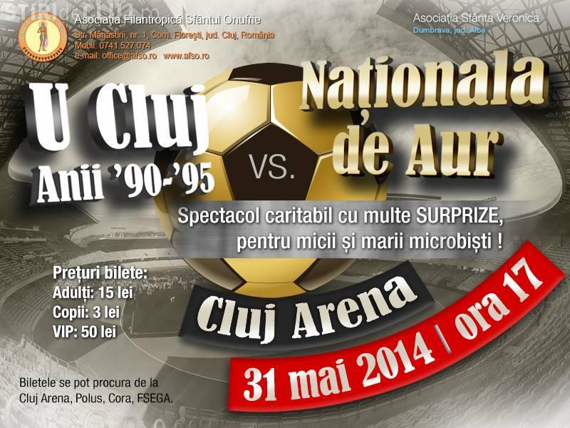 Naționala de AUR joacă pe Cluj Arena un meci amical cu U Cluj