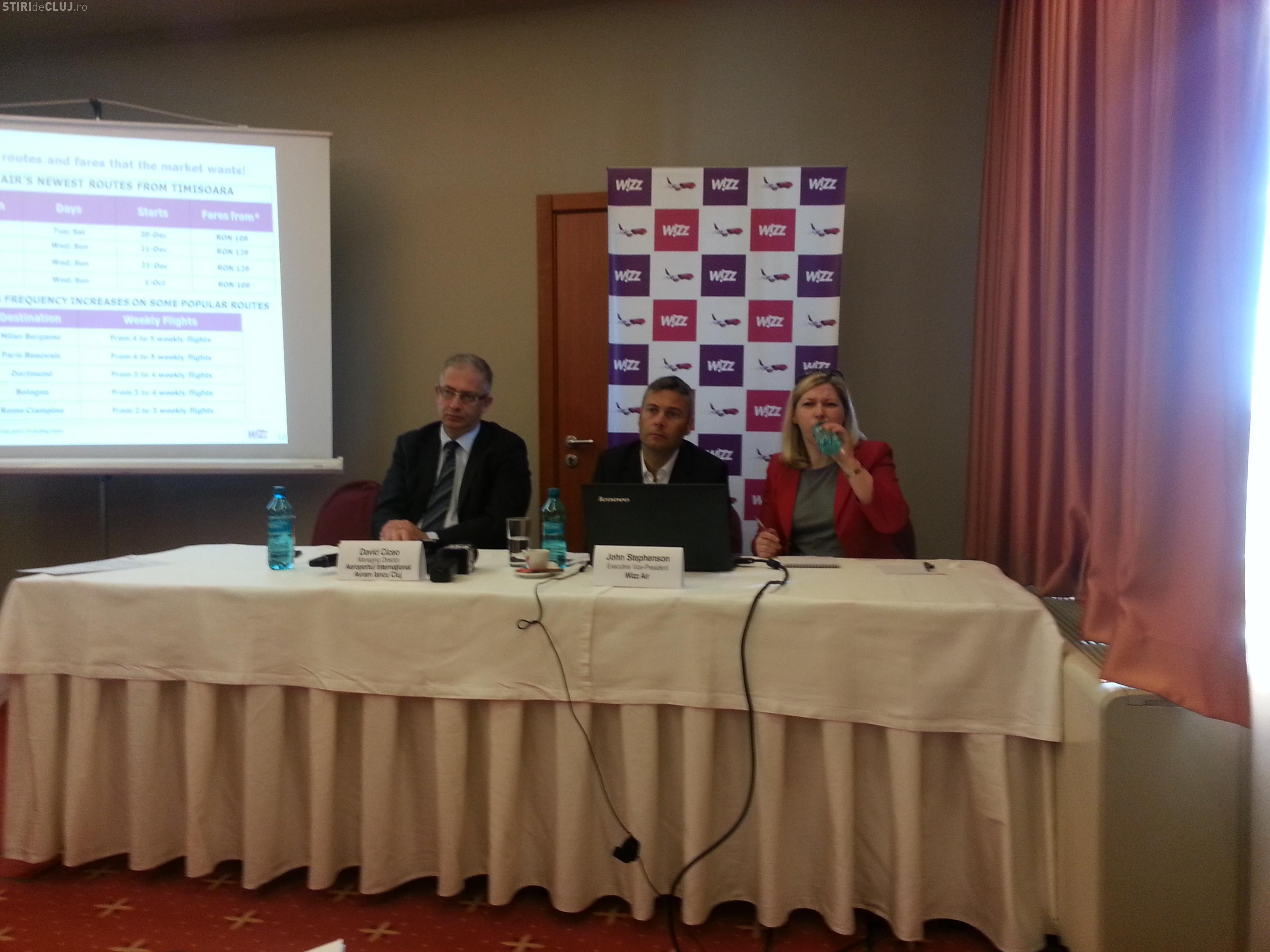 Wizz Air lansează patru noi curse de la Cluj și alocă o nouă aeronavă