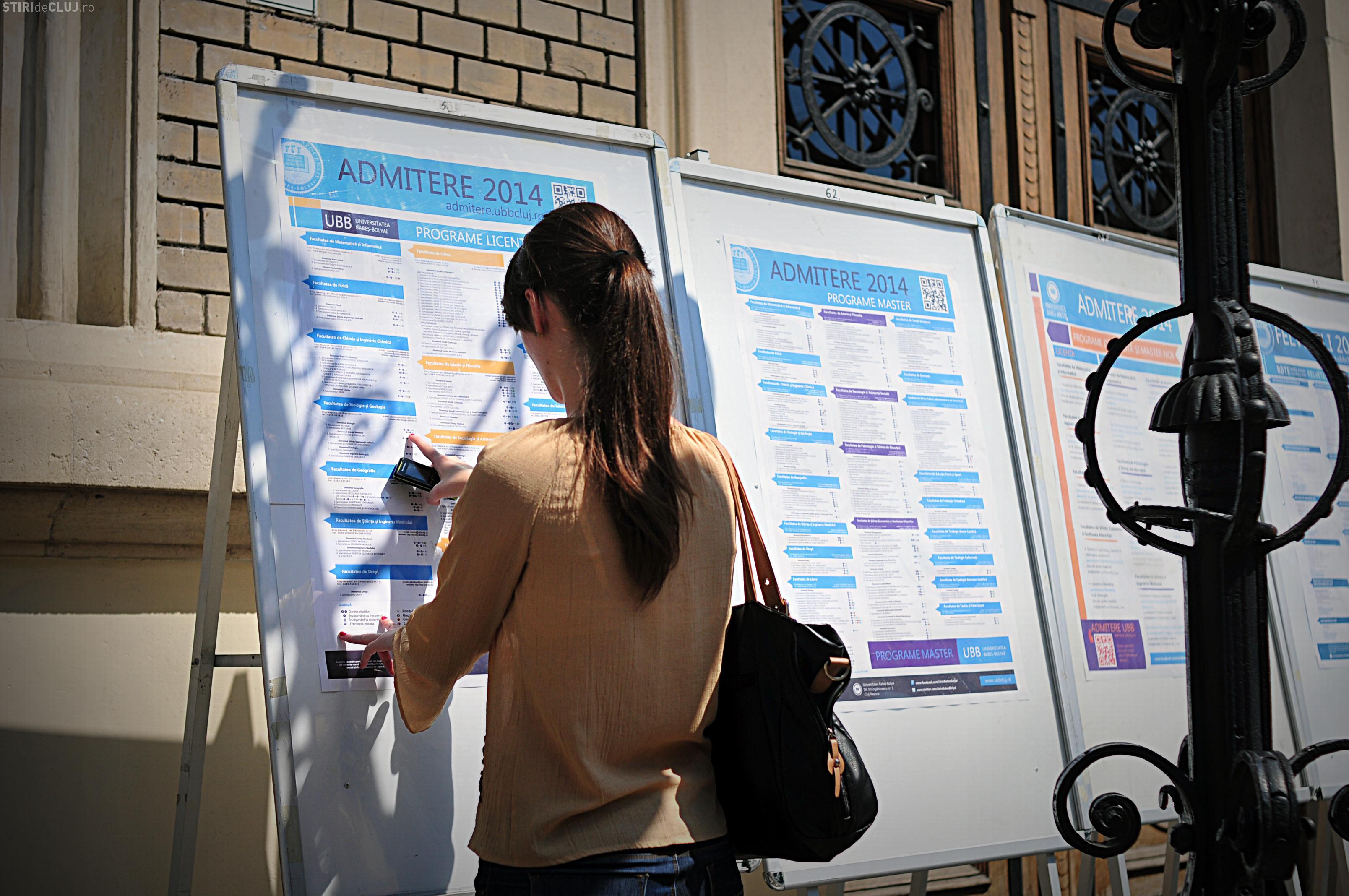 ADMITERE UBB CLUJ: Peste 800 de candidaţi înscrişi la UBB în prima zi. Care sunt facultățile căutate?