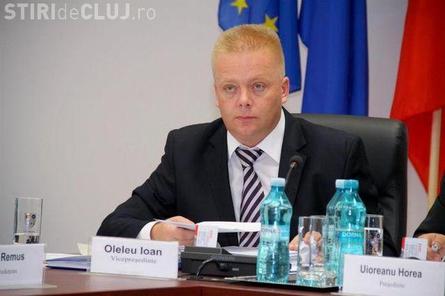 Ioan Oleleu demis a doua oară din funcția de vicepreședinte al CJ Cluj - UPDATE: Seplecan l-a înlocuit
