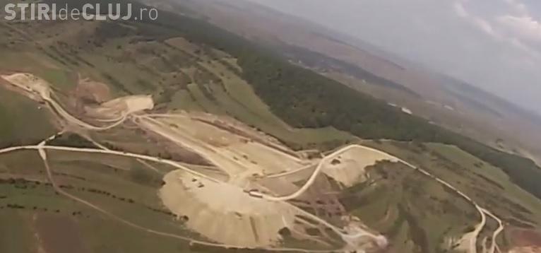 Imagini AERIENE cu Autostrada Gilău - Nădășel - VIDEO