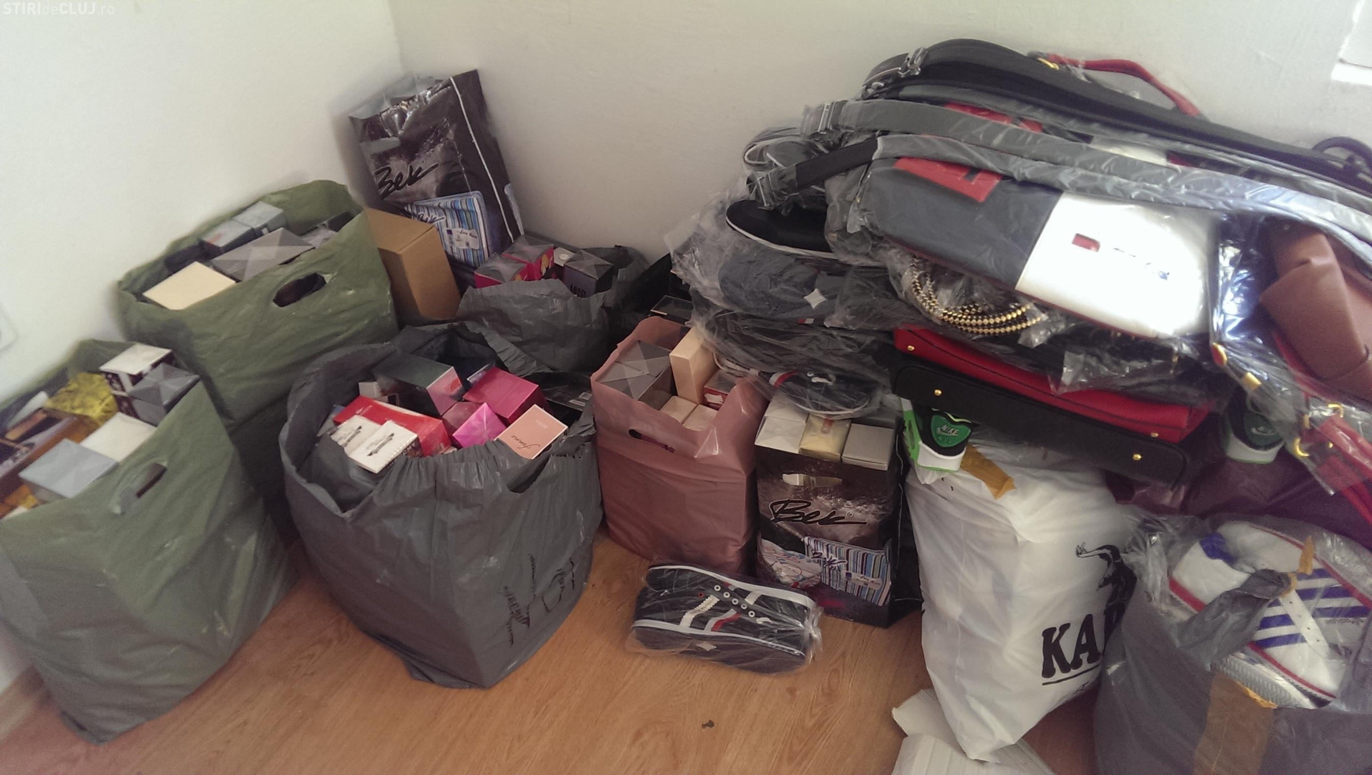 Haine si parfumuri turcești de aproape 90.000 lei confiscate la Florești FOTO