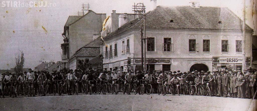 Clujul în 1930! Fotografie memorabilă cu o cursă ciclistă, dar și alte detalii interesante - FOTO