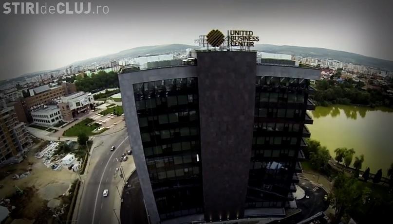 Imagini AERIENE spectaculoase cu clădirile de birouri ale Clujului - VIDEO