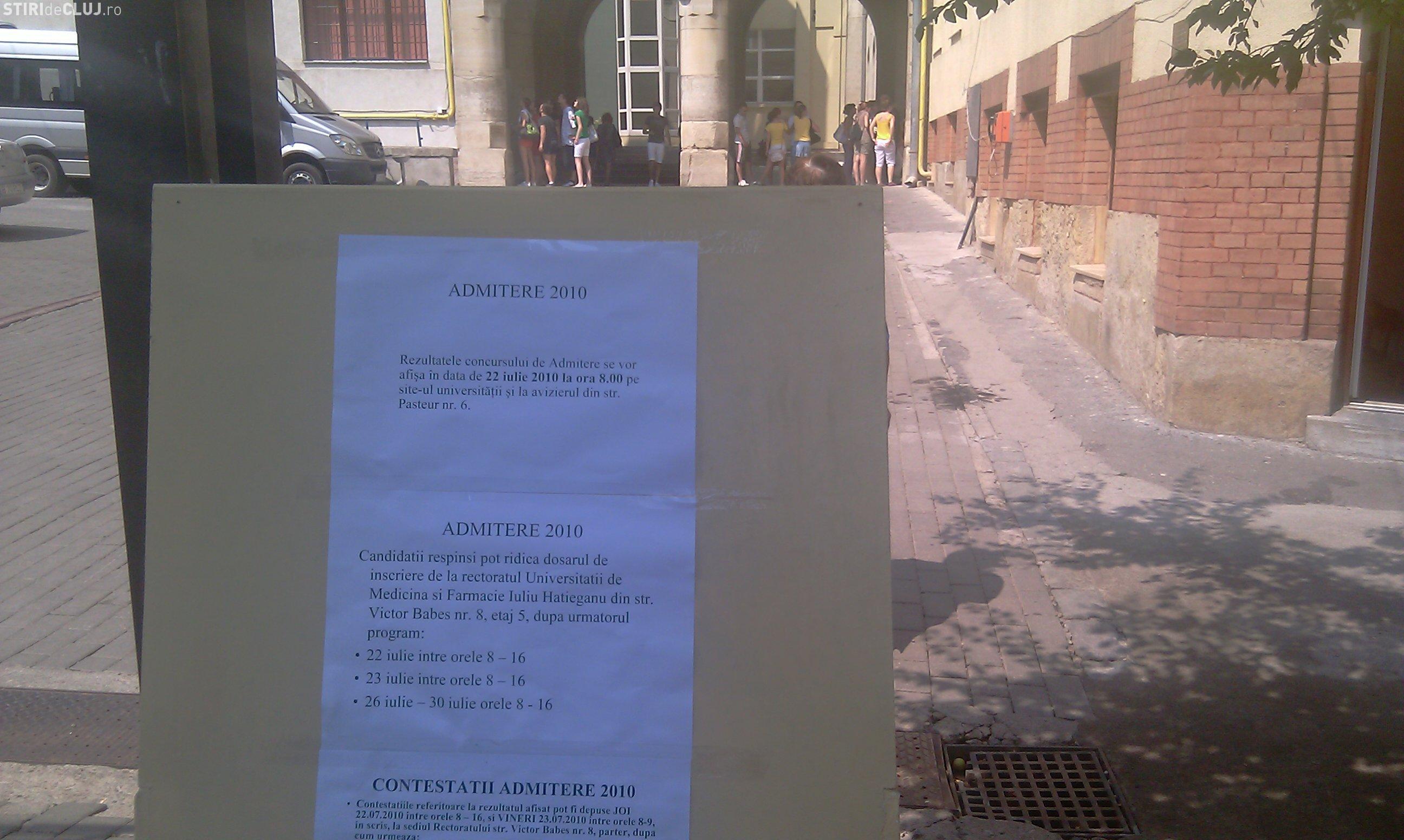 Admitere UMF Cluj 2010: Inscrierile se pot face in perioada 13-17 septembrie. VEZI aici detalii!