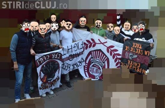 Fanii U Cluj au spart stadionul din Gruia și au confiscat steagurile feroviarilor - FOTO