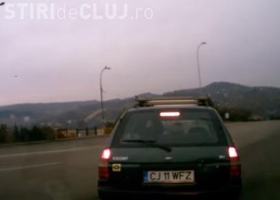 Și-a filmat propriul accident pe strada Bucium, în Mănăștur - VIDEO