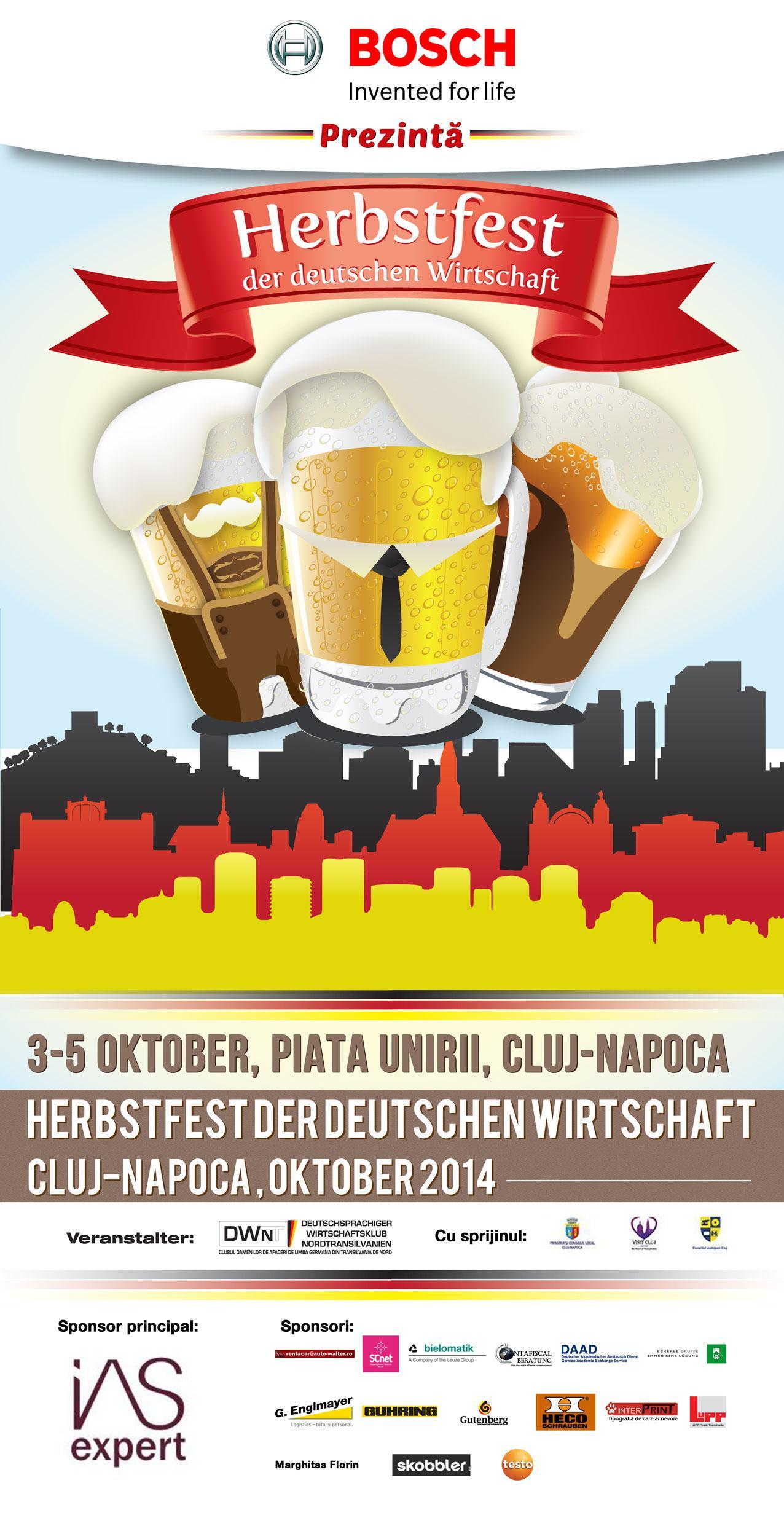 De Ziua Germaniei, la Cluj începe Festivalul de Toamnă al Economiei Germane