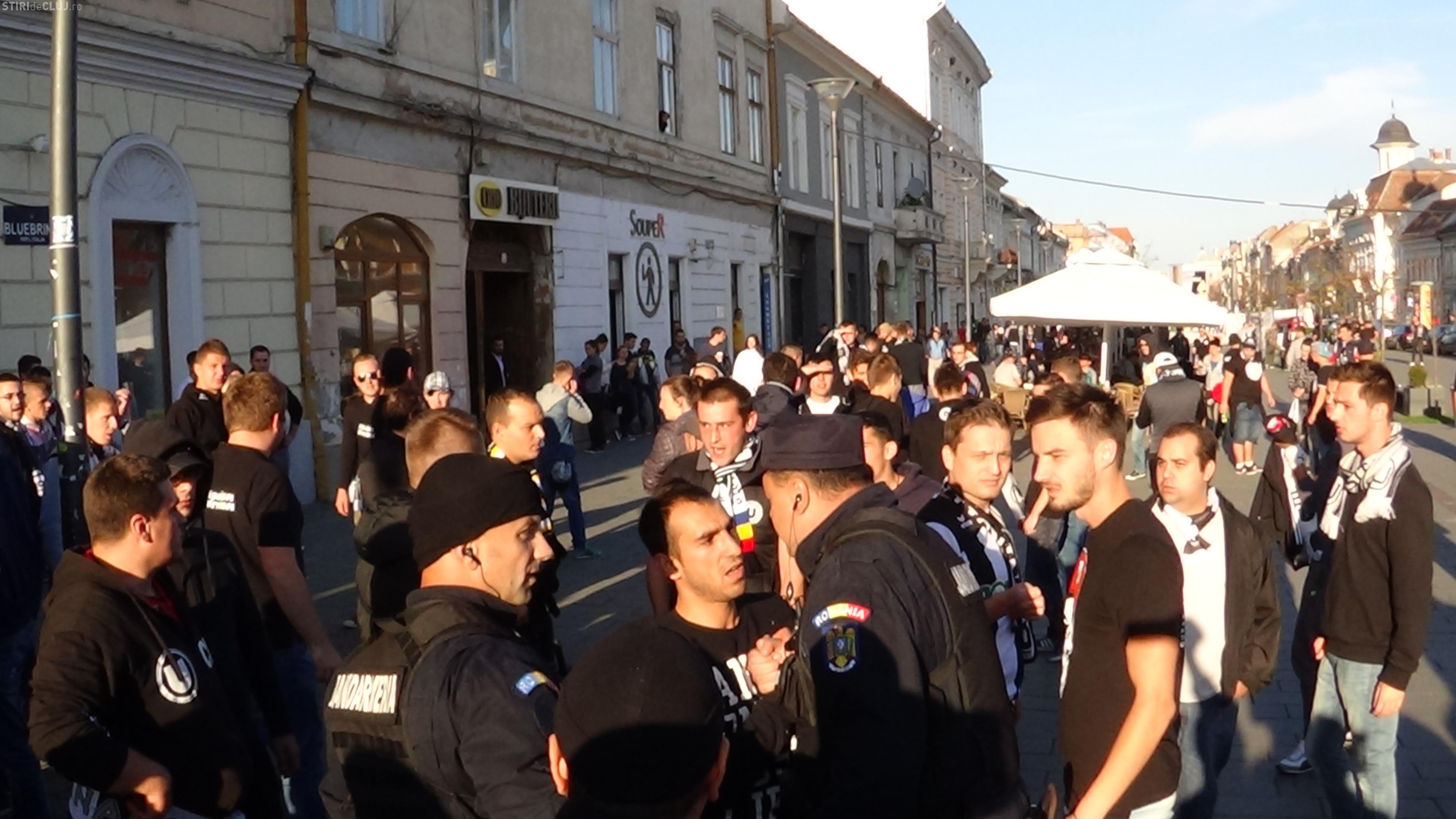 Jandarmii au aplicat amenzi dure la DERBY -ul CFR Cluj - U Cluj