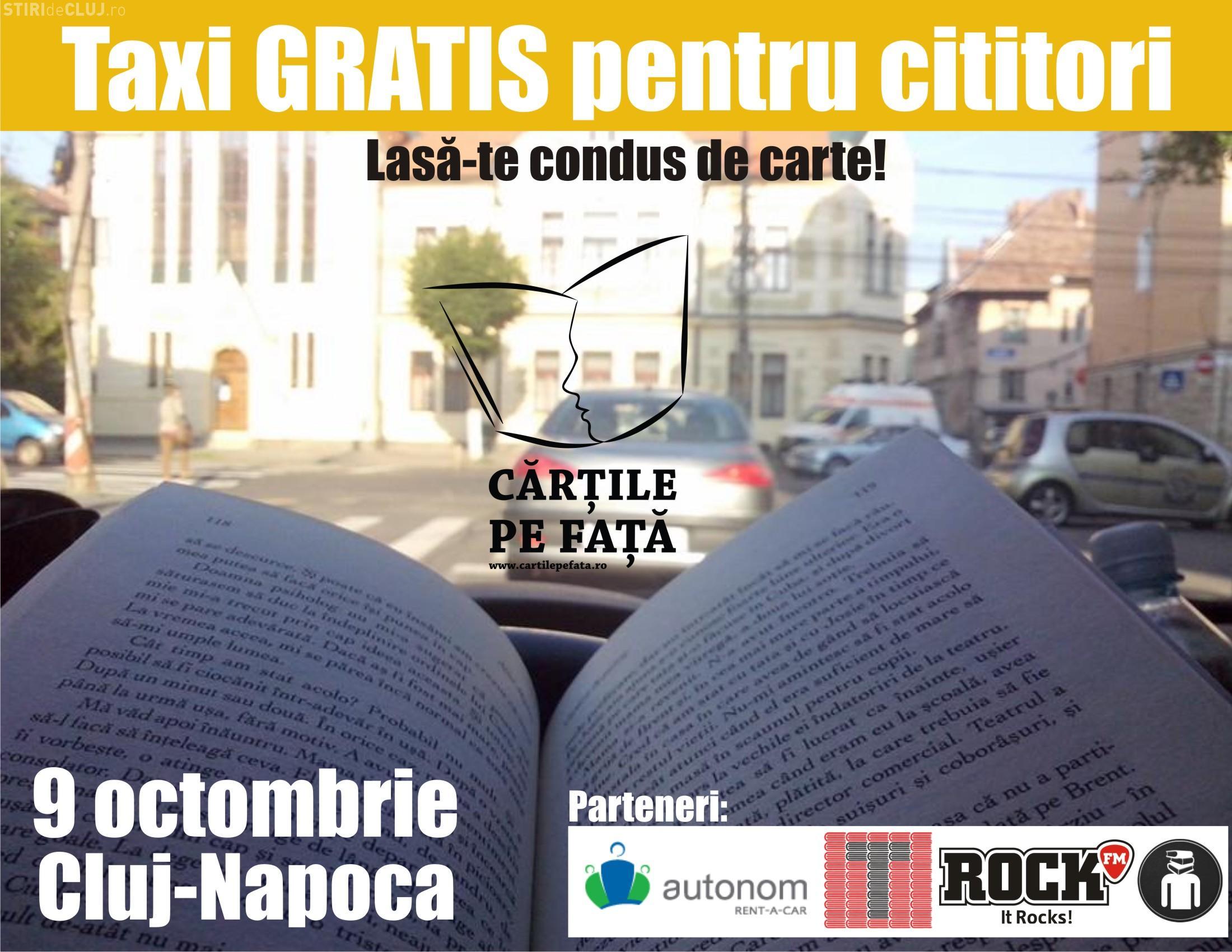 Clujenii merg gratuit cu taxiul dacă au o carte la ei