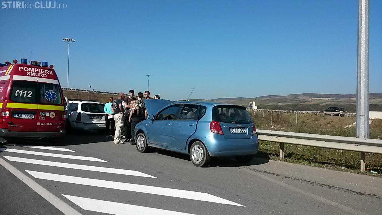 Accident în lanț după târgul auto din Florești FOTO