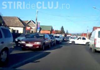 Trafic blocat în Florești spre Cluj-Napoca, în zona Polus