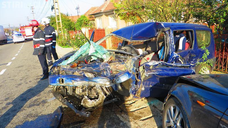 Accident TERIBIL la Iclod! Un mort și patru mașini implicate - VIDEO camere de supraveghere