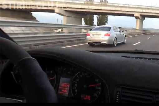 Șofer prins cu peste 200 de km/h pe Autostrada Transilvania. AMENDA l-a ULUIT