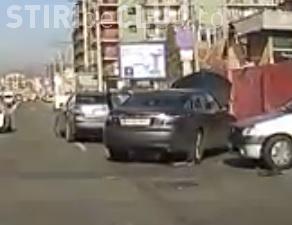 Accident pe Teodor Mihali surprins în DIRECT de un alt șofer - VIDEO