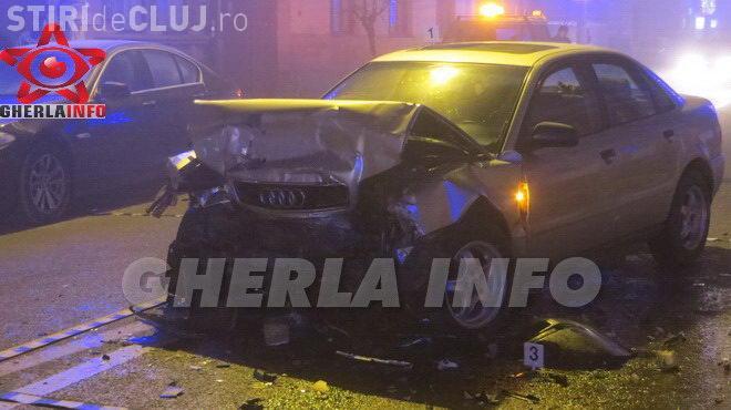 Șoferul unui Audi, RUPT de beat la volan, a băgat în spital două persoane la Gherla FOTO