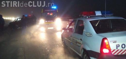 Ceața și neatenția fac victime la Cluj! Trei persoane au ajuns la spital în urma unui accident în lanț VIDEO