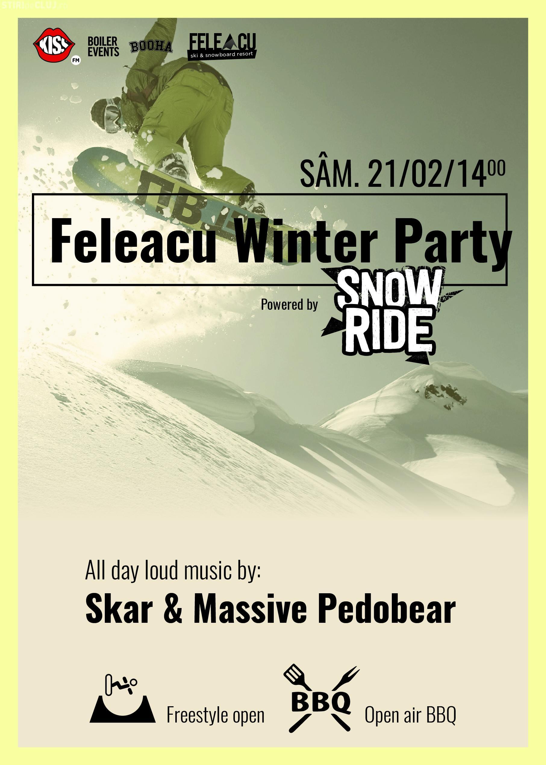 """""""Winter Party"""" pe Pârtia Feleacu, în acest weekend"""