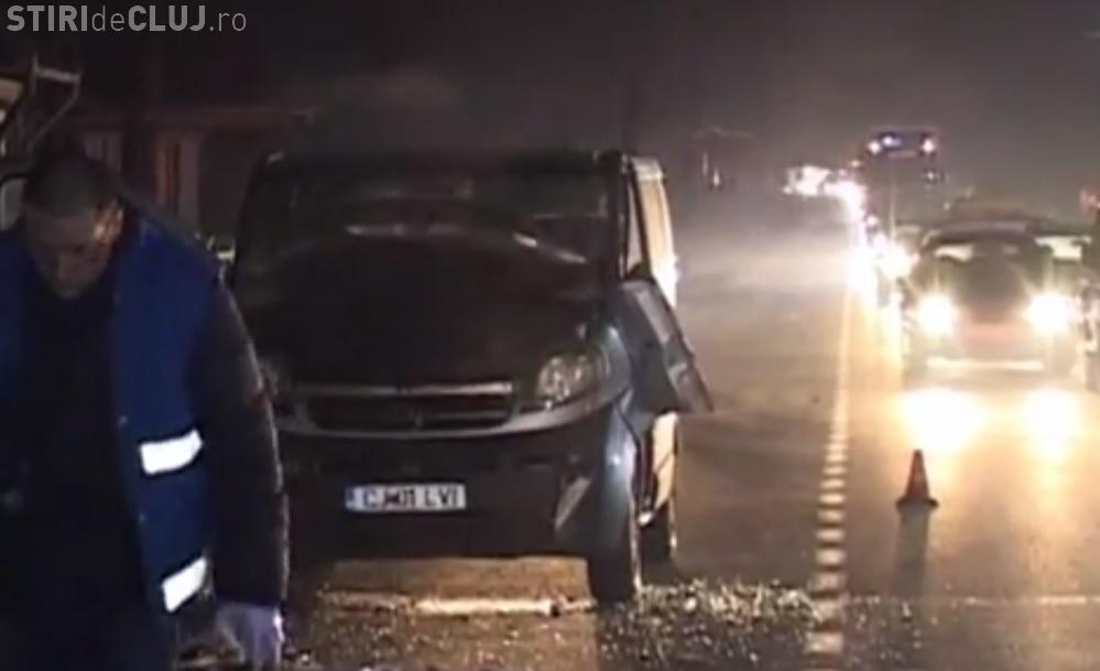 Accident GROAZNIC la Iclod! Un bărbat a fost lovit de TIR în fața copiilor săi - VIDEO